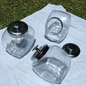 Other - 3 Glass Containers with Lids